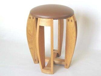 スツール「tamago」(茶)の画像