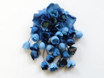 コサージュ木藍染めの画像