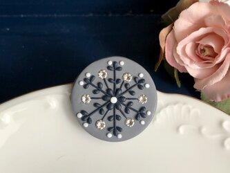 『送料無料』snowcrystal ポニーフック(スワロ付・グレー) / ポリマークレイの画像