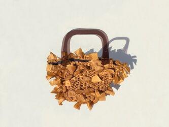 [cyane]basket bag / fabric:brown × handle:brownの画像