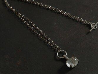 針水晶 ネックレスの画像