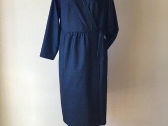 カシュクールドレス(大島の着物リメイク)の画像