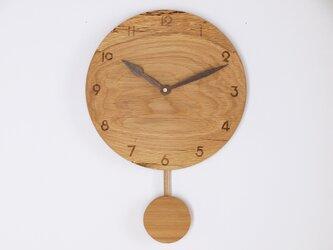 木製 振り子時計 楢材6の画像