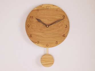 木製 振り子時計 楢材8の画像