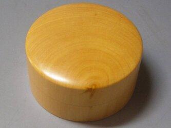 宮崎日向産 柘植材(黄楊) ガラスコート仕上げ ミニ食籠 小筥 香盒にもの画像
