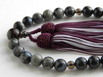 グレー翡翠とケセラストーンの念珠の画像