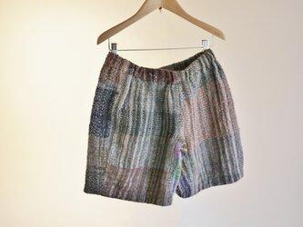 手織り ショートパンツ 秋冬の画像