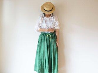 ◯予約商品◯Linen waist gather skirtの画像