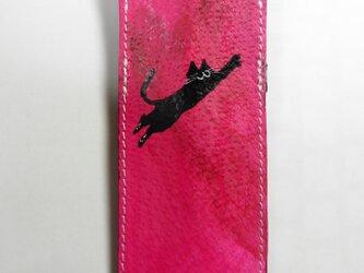 黒猫飛び猫★ペンケースの画像