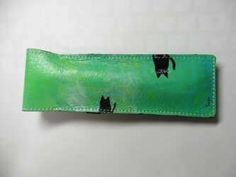 黒猫 2匹★ペンケースの画像