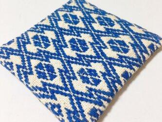 菱刺し コースター〔青〕の画像