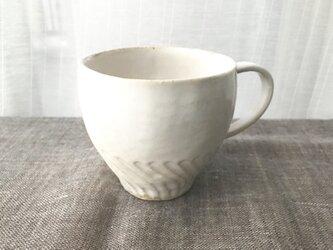 淡雪色のしのぎのマグカップ 01-2の画像