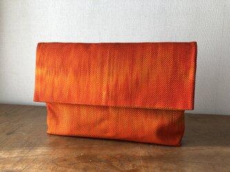 グラデーション袋帯リメイク ショルダーチェーン付き・クラッチバッグの画像