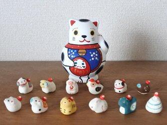 招福猫 十二支縁起の画像