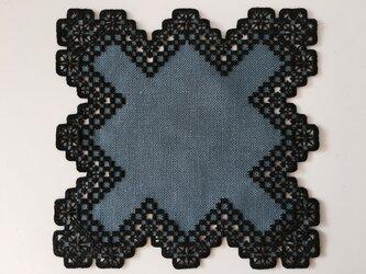 ハーダンガー刺繍のミニマットの画像