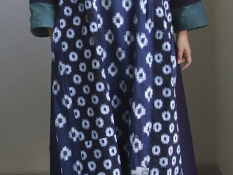 絣のワンピース ●長袖117センチ丈● の画像