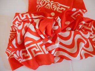 パネルスカーフ(シフォン) チェリーレッドの画像