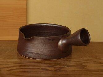 錆赤 片手土鍋 (大/右)の画像