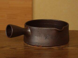 錆赤 片手土鍋(大/左)の画像