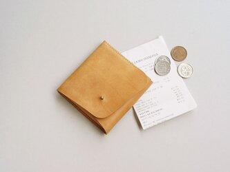 スクエア財布 BEIGE (牛革カーフ)の画像