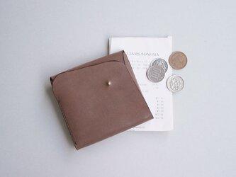 スクエア財布 DARK BROWN (牛革ヌバック)の画像