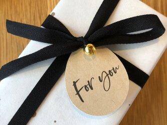 """ラッピングタグ""""For you""""<3枚セット>【送料無料】の画像"""