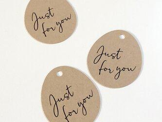 """ラッピングタグ""""Just for you""""<3枚セット>【送料無料】の画像"""