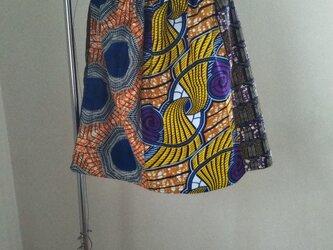 アフリカの布でスカートやスヌード等の画像