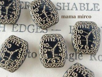 2個*チェコ 時計ビーズブラックの画像