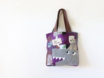 ちくちく2‐faced bag「wolf1」再4の画像