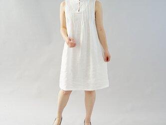 【wafu】薄地 雅亜麻 リネン ワンピース ペチワンピース ピンタック 2way インナー 肌着/白色 p001a-wht1の画像