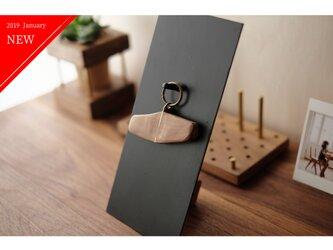 【送料無料】真鍮とウォールナットのキーホルダー / キーリング No6の画像