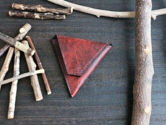 『三角コインケース(手縫いタイプ)』 イタリアンレザー・Old Canyon(オールドキャニオン)※(革色ワイン)の画像