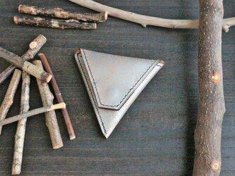 『三角コインケース(手縫いタイプ)』 イタリアンレザー・Old Canyon(オールドキャニオン)※(革色シルバー)の画像