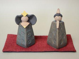 お雛様セット 陶器の画像