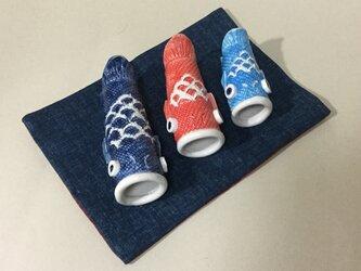 鯉ファミリー 陶器の画像
