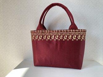 帯バッグ〜レッドゴールド〜の画像