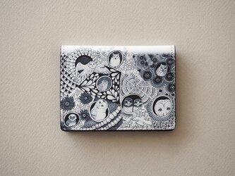 《送料無料/受注生産》ふくろうたちの巣穴のカードケースの画像