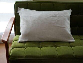 【wafu】特殊な リネン ピローケース 枕カバー 筒型 マイナスイオン加工 防菌 防臭加工/ホワイト r002a-wht3の画像