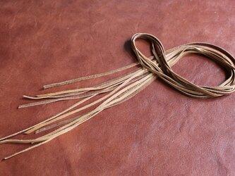 鹿革紐(ディアスキン)3mm幅×1M×5本 カラー(キャメル)の画像