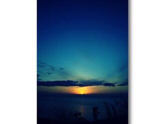 【写真のみ】Sunrise Blue【A4 送料無料 アートフォト】テキスト挿入のオーダー承りますの画像