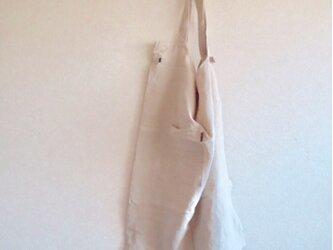 天日干しリネンエプロン キナリの画像