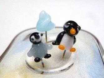 ガラスのマチ針 ペンギンセットの画像