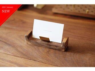 【送料無料】真鍮とウォールナットのカードスタンド No4の画像