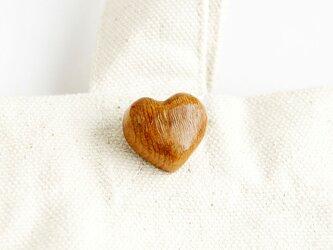 木製ハートチョコブローチ(R-BR)の画像