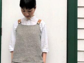 French linen × Shetland wool トップス ... 7の画像