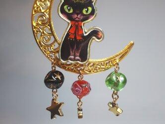 フランス製ビーズ オシャレ猫 キーリングの画像