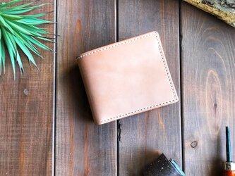 国産サドルレザーを使用した手縫いの二つ折り財布の画像