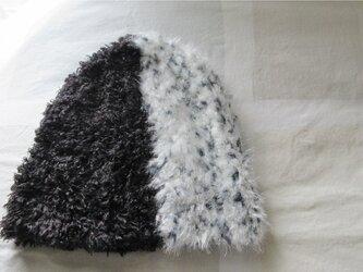 アニマル柄ニット帽 クロヒョウの画像