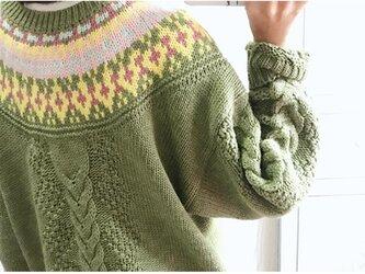 【受注製作】 セーター ニット ウール201906の画像